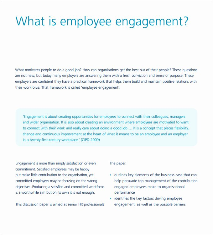 Employee Engagement Plan Template Awesome Hr Strategy Template 31 Word Pdf Documents Download