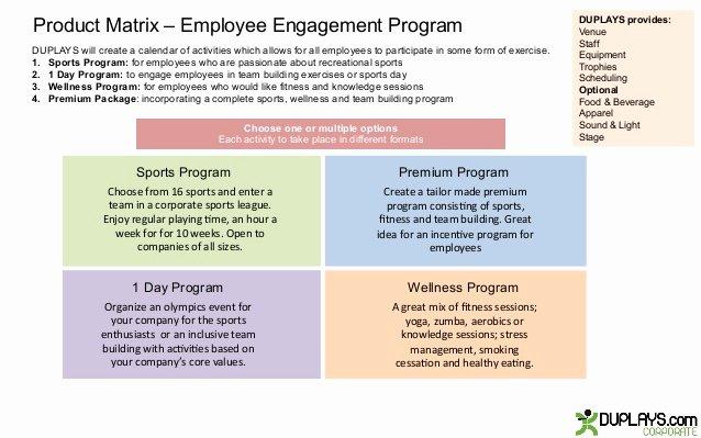 Employee Engagement Plan Template Luxury Employee Engagement Program
