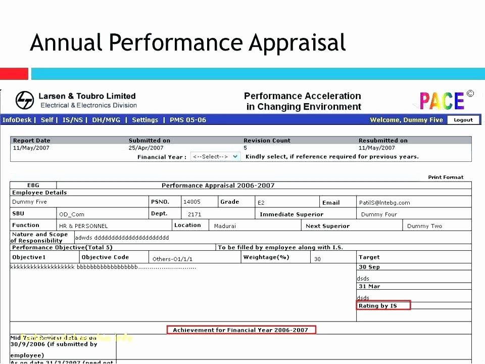 Employee Evaluation Template Excel Awesome Annual Performance Appraisal Template S Employee