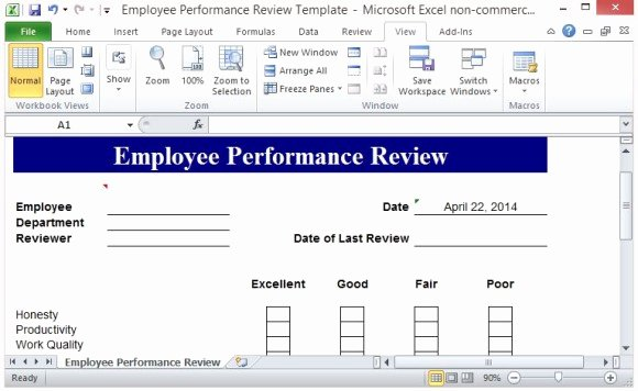 Employee Evaluation Template Excel Best Of Free Performance Review Template form for Word 2007