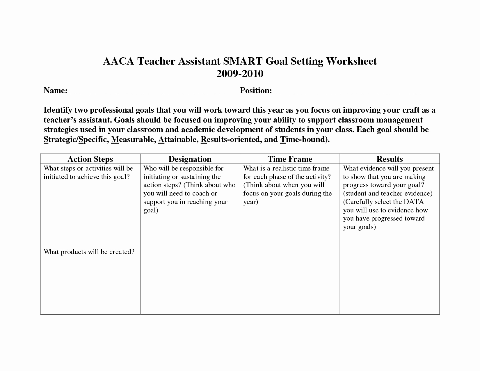 Employee Goal Setting Template Best Of 19 Best Of Employee Goal Worksheet Employee Goal