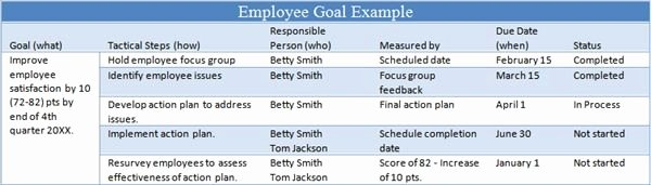 Employee Goal Setting Template Fresh 6 Tips for Managing Employee Goals Work
