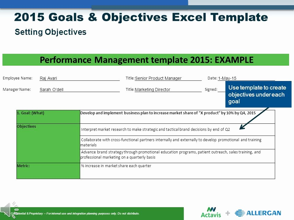 Employee Goal Setting Template Inspirational Goals & Objectives Setting Ppt Video Online