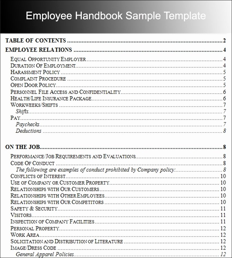 Employee Handbook Template Word Beautiful Employee Handbook Template Beepmunk