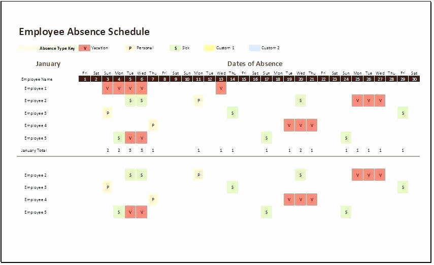 Employee Holiday Schedule Template Awesome Employee Calendar 2017 Template Employee Absence Schedule