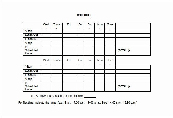 Employee Holiday Schedule Template Fresh Employee Work Schedule Template 16 Free Word Excel