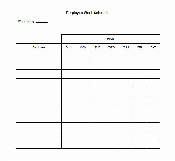 Employee Holiday Schedule Template Lovely Blank Restaurant Employee Schedule Template Templates