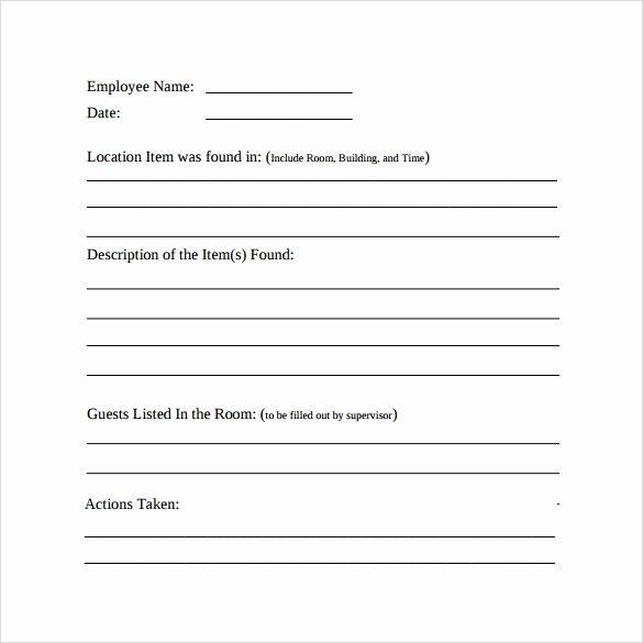Employee Incident Report Template Elegant 15 Employee Incident Report Templates – Pdf Word Pages