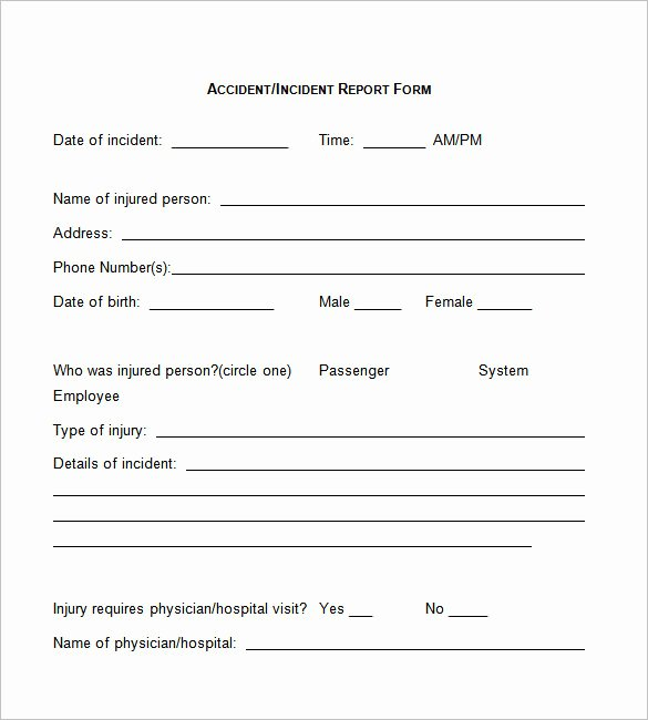 Employee Incident Report Template Elegant 37 Incident Report Templates Pdf Doc Pages