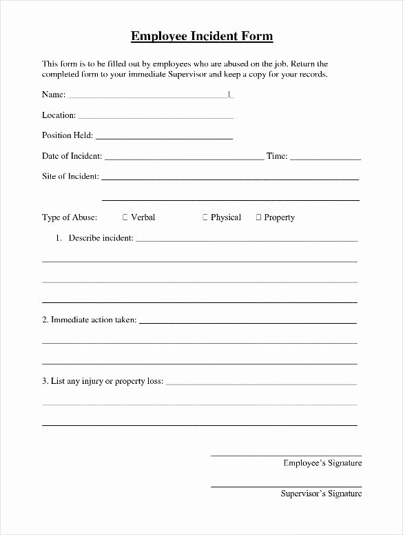Employee Incident Report Template Luxury Sample Incident Report Letter format
