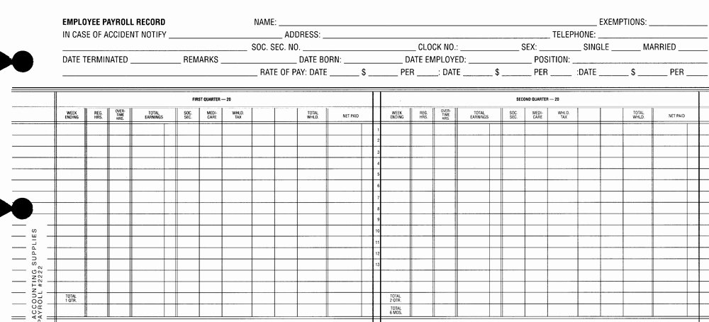 Employee Payroll Ledger Template Awesome Payroll Sheets Monarch Accounting Supplies Supplying