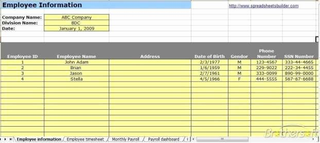 Employee Payroll Ledger Template New Payroll Templates Find Word Templates
