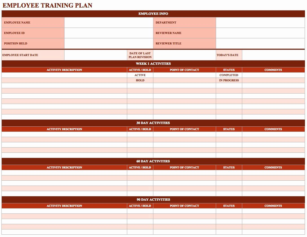 Employee Performance Log Template Lovely Employee Training Matrix Template Excel Download Staff