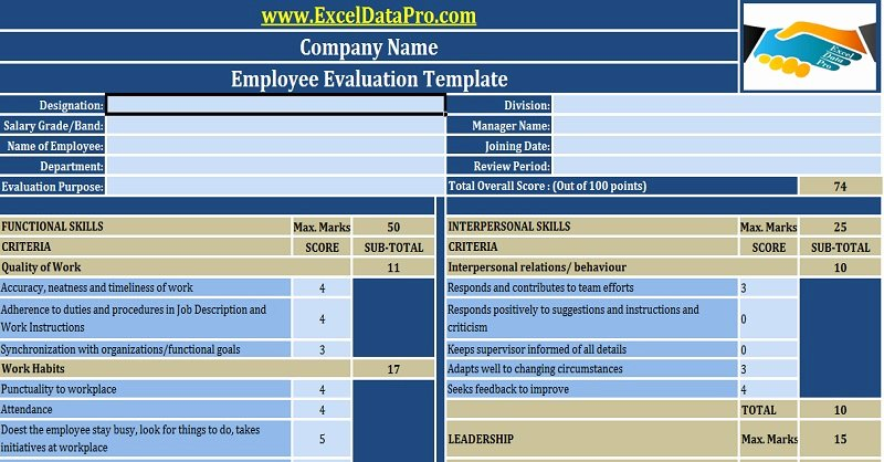 Employee Performance Tracking Template Awesome Download Free Hr Templates In Excel