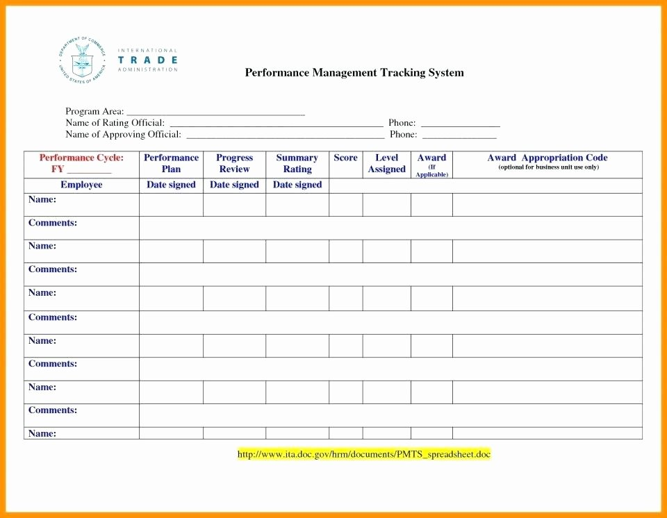 Employee Performance Tracking Template Inspirational Performance Tracking Excel Template Employee Performance