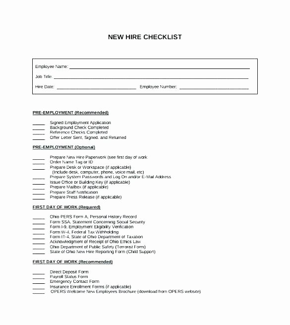 Employee Personnel File Template Fresh Employee File Checklist Template – Energycorridor