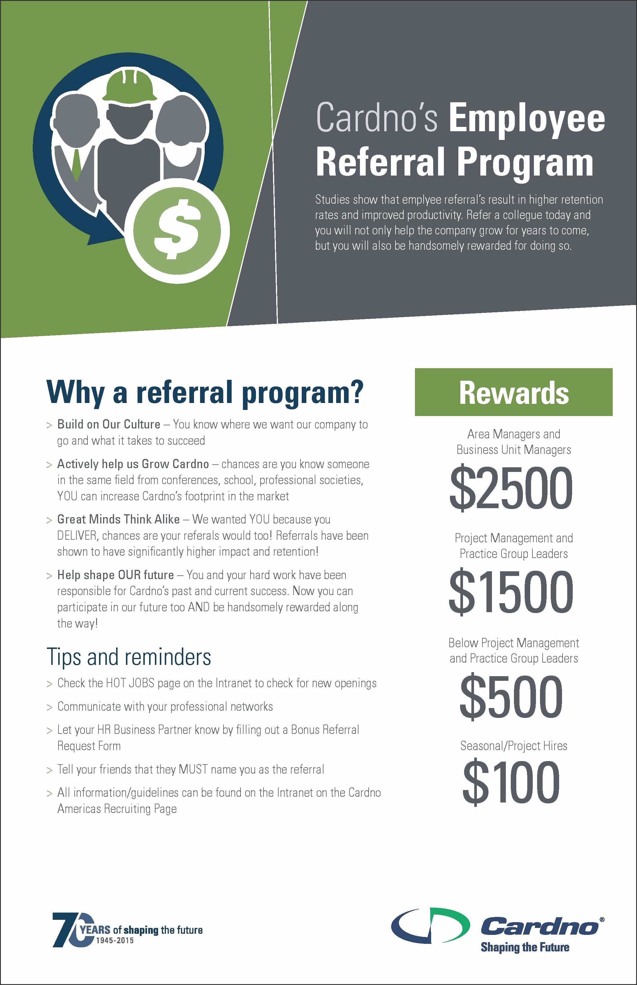Employee Referral Program Template Elegant Employee Referral Program Flyer to Pin On