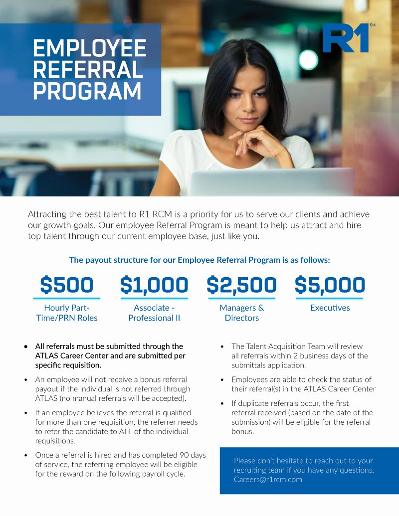 Employee Referral Program Template Fresh Employee Referral Program Flyer to Pin On