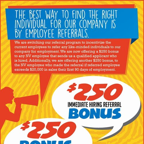 Employee Referral Program Template New Employee Referral Program Flyer