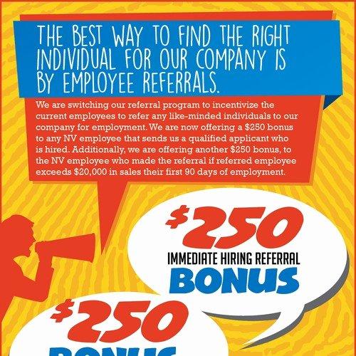Employee Referral Program Template New Employee Referral Program Flyer