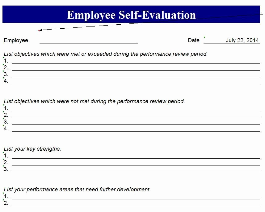 """Employee Self Evaluation Template Lovely Search Results for """"free Printable Employee Review forms"""