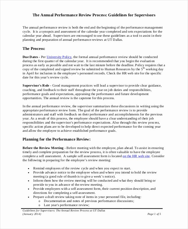 Employee Self Evaluation Template New Annual Performance Review Employee Self Evaluation