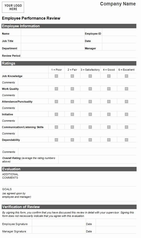 Employee Self Evaluation Template Unique Best 25 Employee Evaluation form Ideas On Pinterest