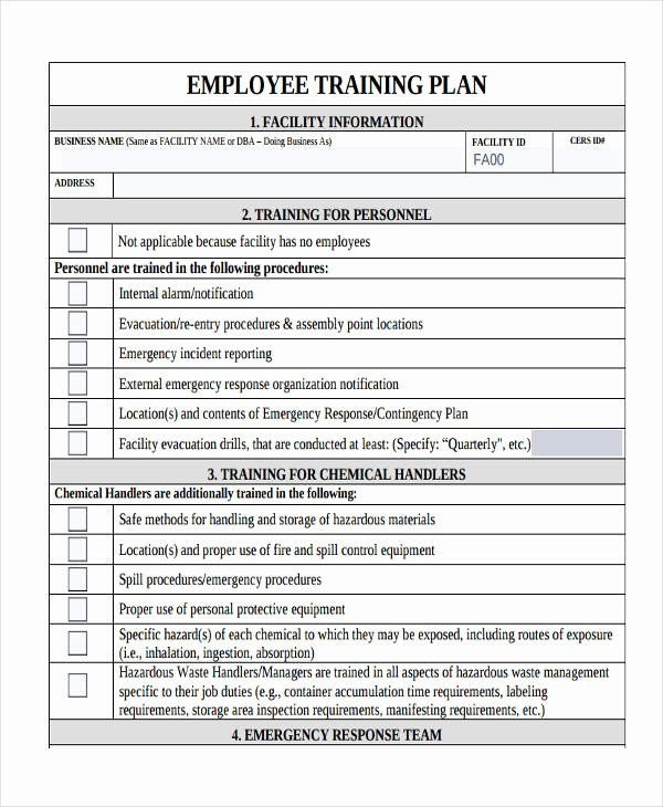 Employee Training Plan Template Awesome 10 Training Plan Examples Samples