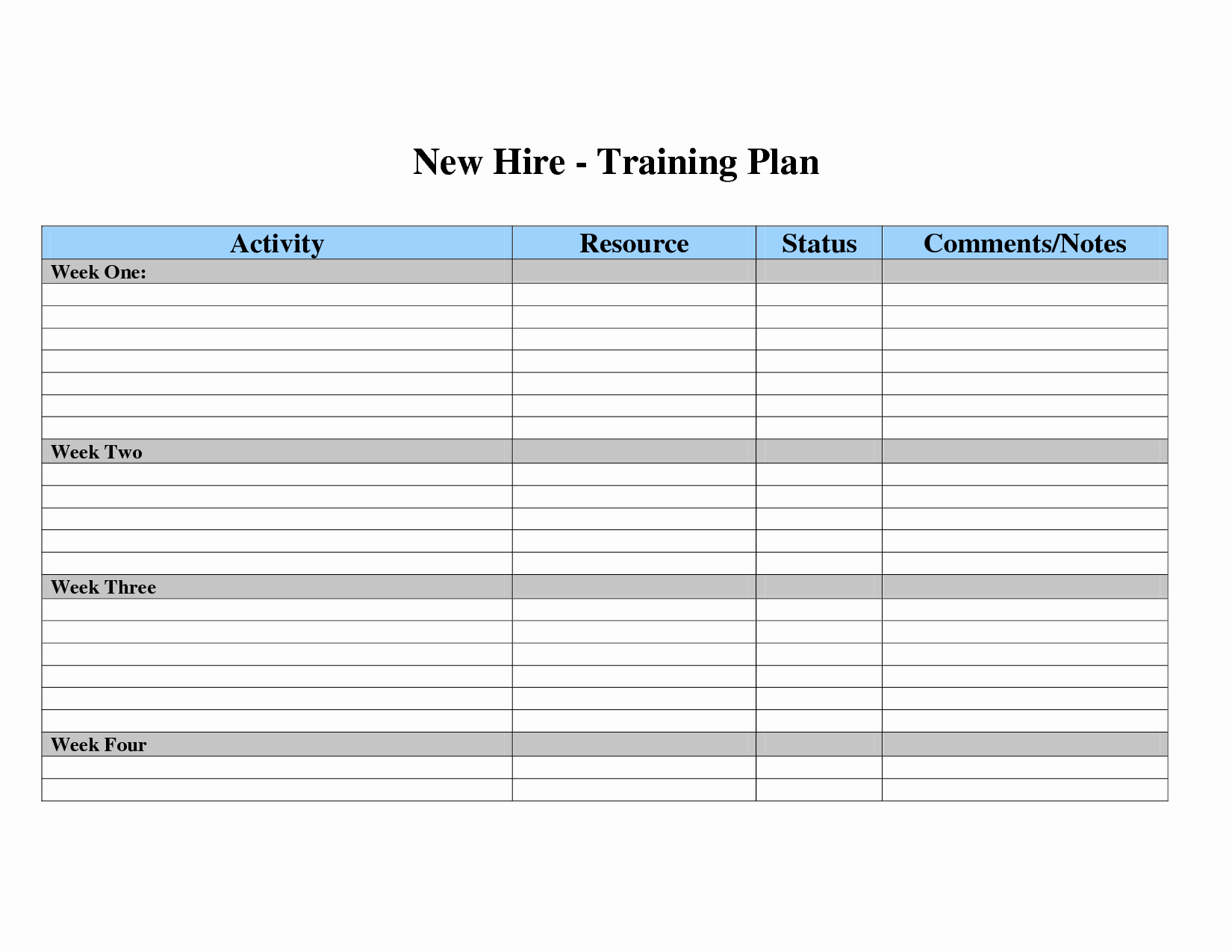 Employee Training Plan Template Awesome Employee Training Plan Template