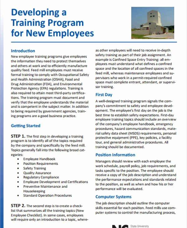 Employee Training Plan Template Fresh Training Program Schedule Templates 5 Free Word Pdf