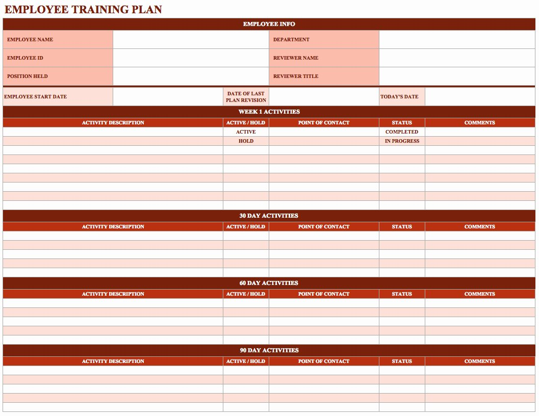 Employee Training Program Template Best Of Employee Training Schedule Template In Ms Excel Excel