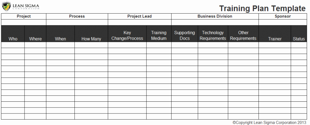 Employee Training Schedule Template Fresh Employee Training Plan Excel Template Staff Training