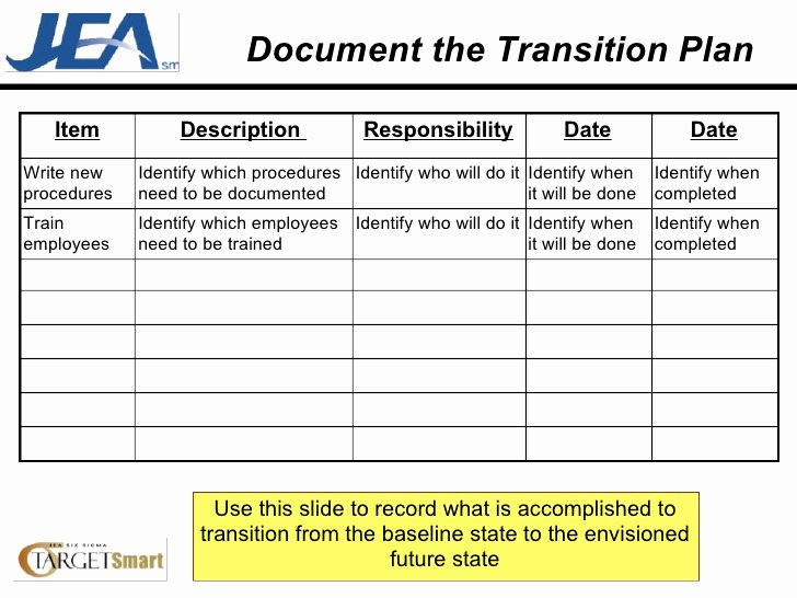 Employee Transition Plan Template Awesome Transition Plan Template