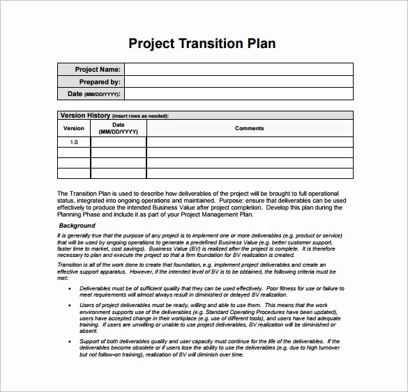 Employee Transition Plan Template Best Of 12 Transition Plan Template Ai Psd Google Docs Apple