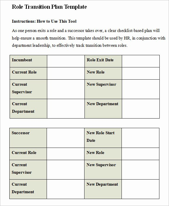Employee Transition Plan Template New 9 Transition Plan Samples