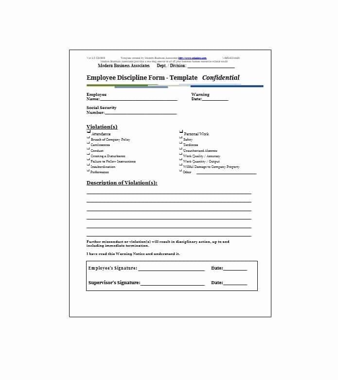 Employee Warning Notice Template Elegant Employee Warning Notice Download 56 Free Templates & forms