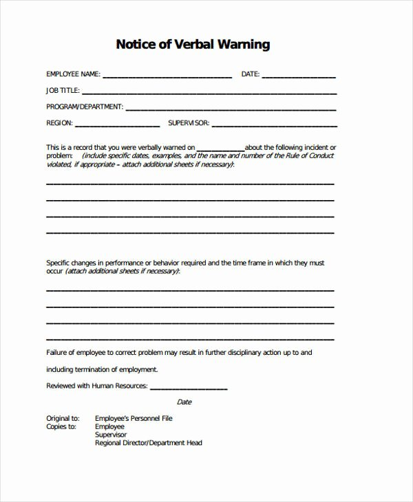 Employee Warning Notice Template New 7 Warning Notice Templates Google Docs Ms Word Apple