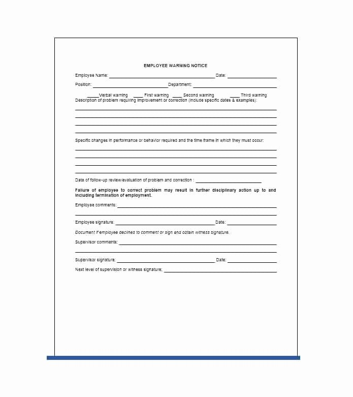 Employee Warning Notice Template Unique Employee Warning Notice Download 56 Free Templates & forms