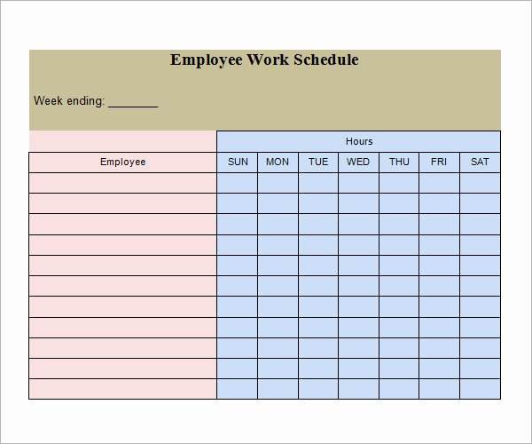 Employee Work Plan Template Beautiful 21 Samples Of Work Schedule Templates to Download