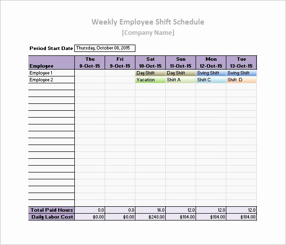 Employee Work Plan Template Best Of Free Work Schedule Templates Weekly Monthly Daily
