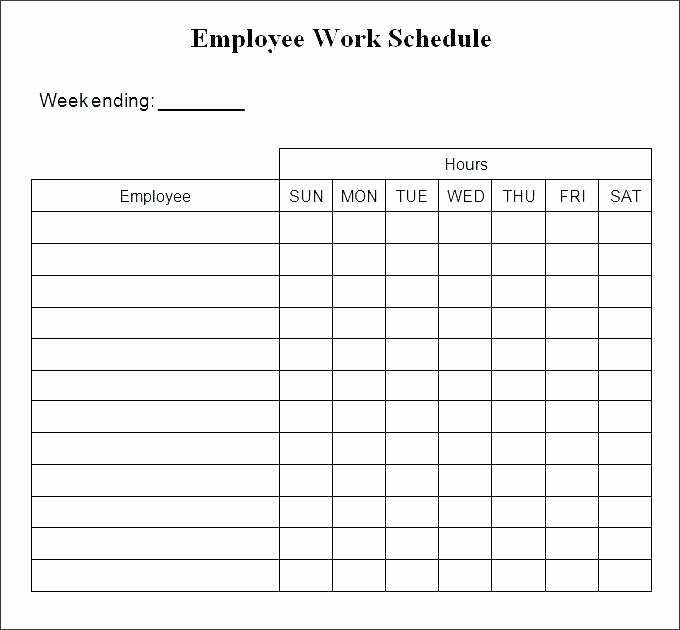 Employee Work Plan Template Fresh Printable Work Schedule Template – Whatapps