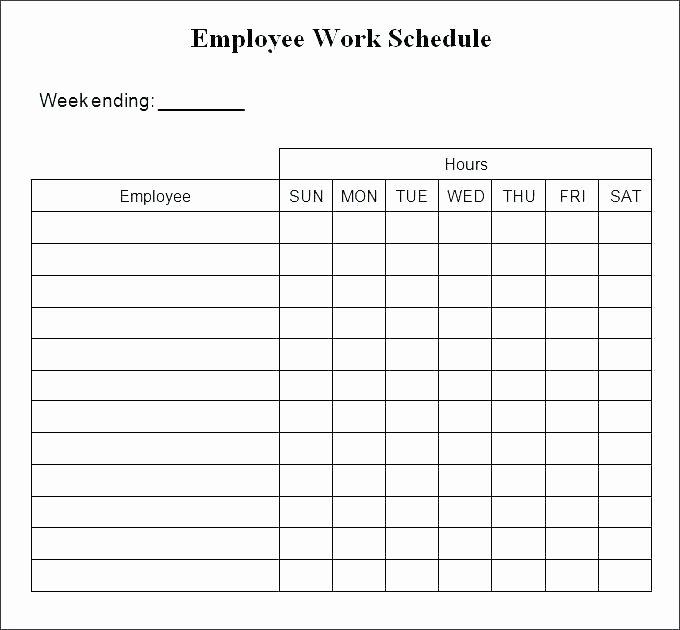 Employee Work Plan Template Fresh Printable Work Schedule Template – Whatapps