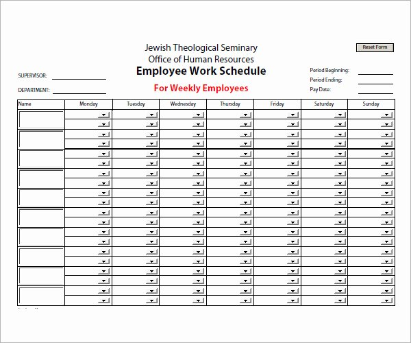 Employee Work Plan Template Lovely 13 Employee Schedule Samples