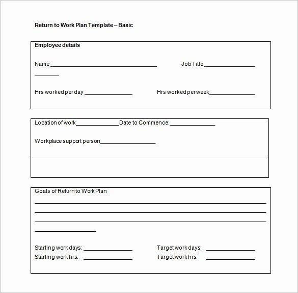 Employee Work Plan Template Luxury Work Plan Template 15 Free Word Pdf Documents Download