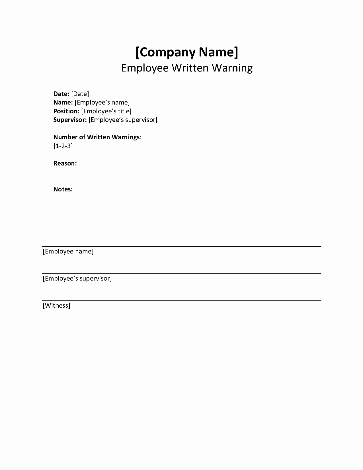 Employee Written Warning Template Best Of 10 Best Of Written Notice Template Writing Notice