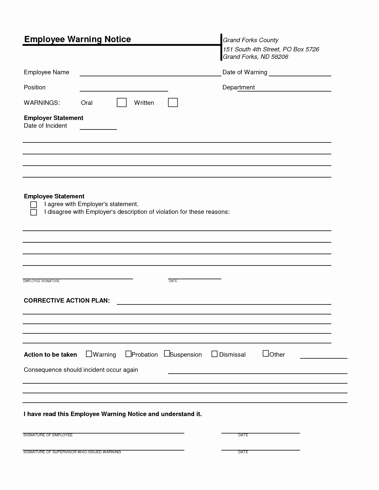Employee Written Warning Template Best Of Best S Of Printable Written Warning Employee