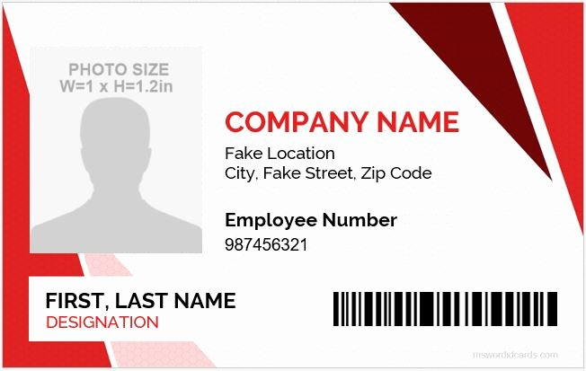 Employees Id Card Template Awesome 5 Best Employee Id Card format In Word
