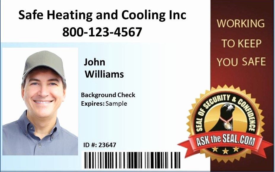 Employees Id Card Template Awesome Home Services Safety Advocate