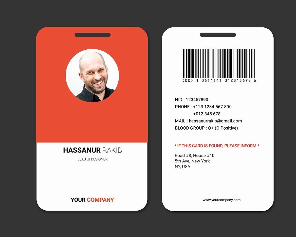 Employees Id Card Template Elegant Cool Fice Badge for Team Mates On Behance