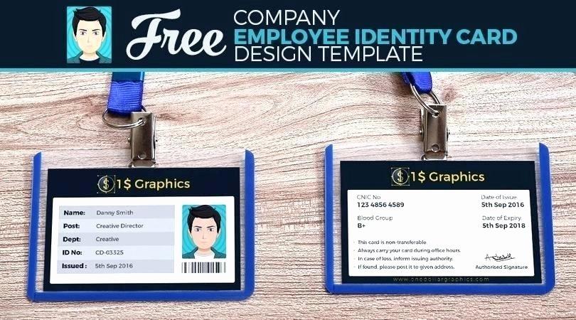 employee id card template badge photoshop